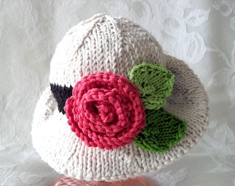 Baby Hats Knitting Knit Baby Hat Knitted Baby Hats Knit Baby Hats Hand Knitted  Brimmed Baby Hat Rose Cotton Knitted Hat Newborn Baby Hat
