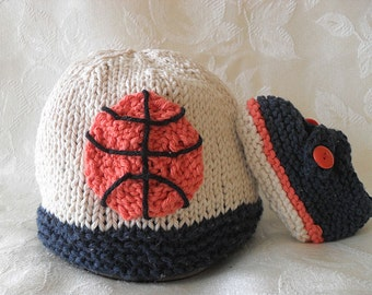Baby Hat Knitting Knit Baby Hat Knitted Baby Hats Hand Knitted Basketball  Baby Hat knitted baby beanie March Madness Cotton Knitted Hat