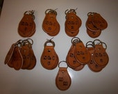 Stone Lion Inn 17 Leather Key fobs