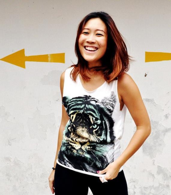 Women Holiday Fashion Animal Print Tunic Tank Top Singlet Tiger Tshirt 6 S Etsy Valentine Gift