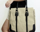 Brown Sackcloth Handbag