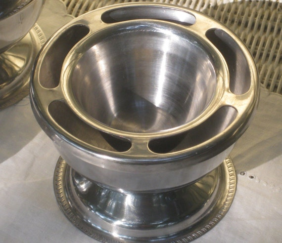 Stainless Steel Shrimp Cocktail Bowls Or Ice Cream Cups Set Of