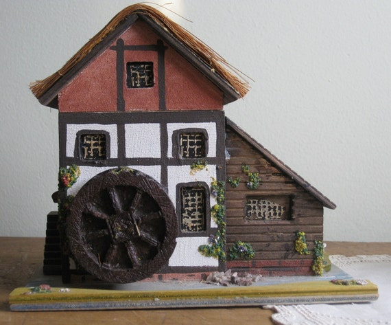 Pauline Ralph Victorian Water Mill Music Box By