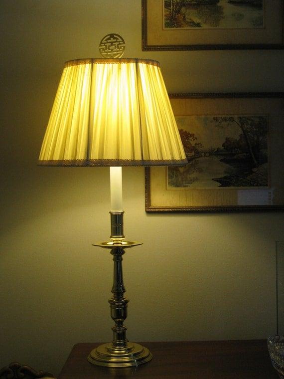 Vintage Baldwin Brass Candlestick Lamp