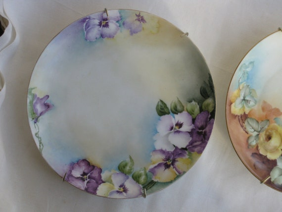 Antique Haviland France Plate Handpainted Decorative Early