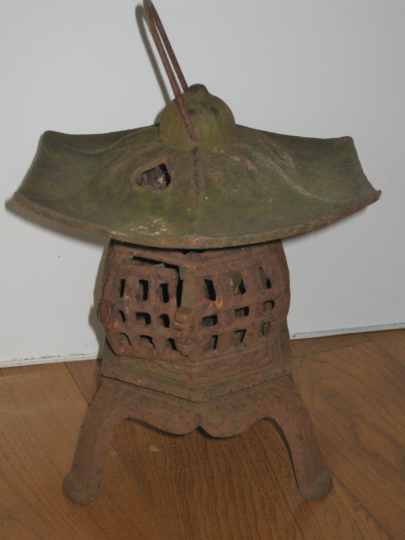 Vintage Cast Iron Japanese Pagoda Lantern