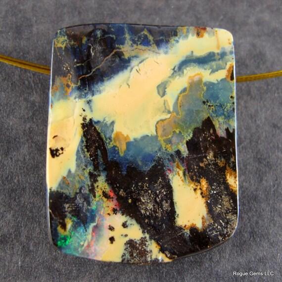 Designer Boulder Opal Pendand Focal Bead