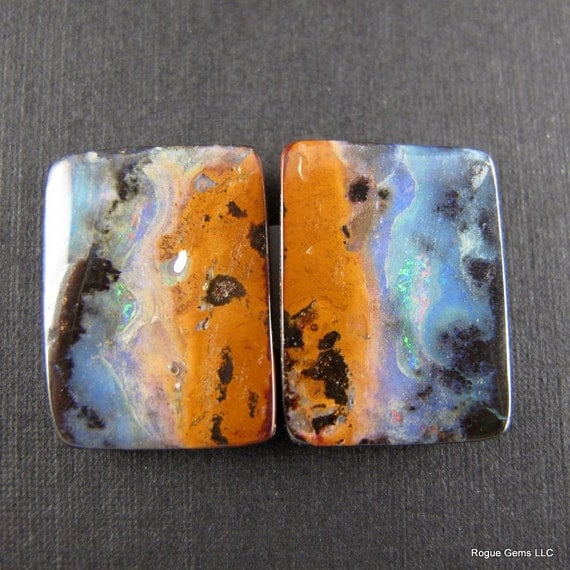 REDUCED: Stunning Australian Boulder Cabochon Matched Pair