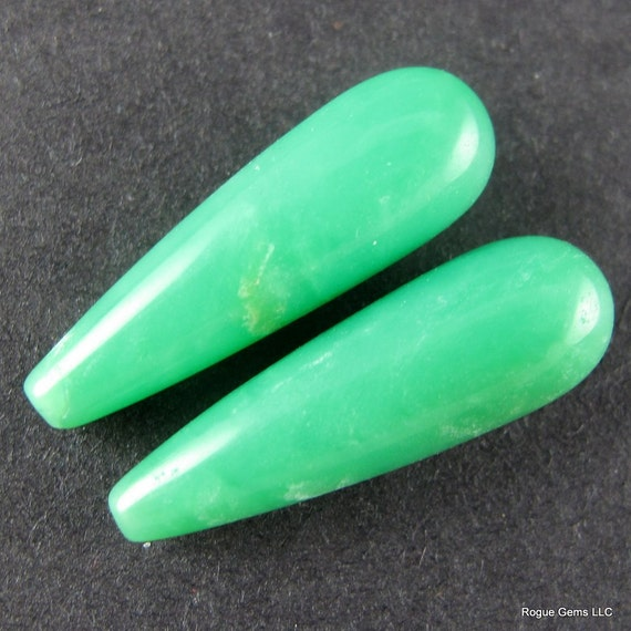 HALF OFF: Gorgeous Green Australian Chrysoprase Drops
