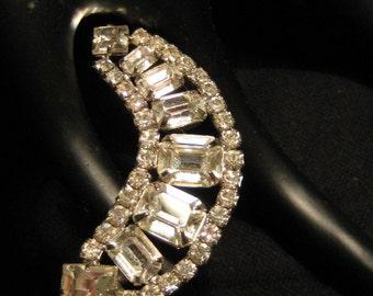 Huge Crescent Shaped Clip Earrings