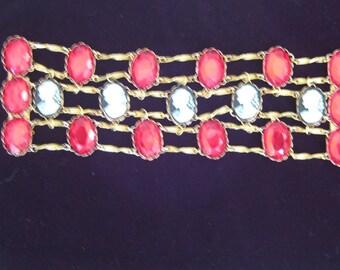 Five Times a Lady Vintage Cameo Bracelet
