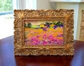 Abundance..........framed original painting 4x6, framed7x9  Vivid colors