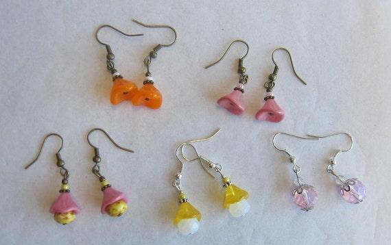 Sale - set of 5 earrings - lot 14