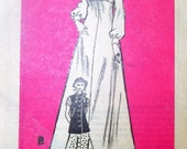 On Sale - 70s Anne Adams Mail Order Pattern 4893 Evening Gown or Dress with Scarf, Tunic Style Jacket, Size 38, Bust 42