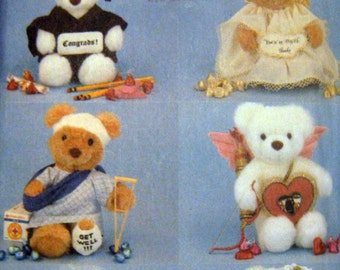 Greeting Bears UNCUT Sewing Pattern - Butterick 5601, GRADUATION BEARS, BRIDES, BALLERINAS ETC.