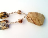 Jasper Safari Fine Natural Hemp Necklace