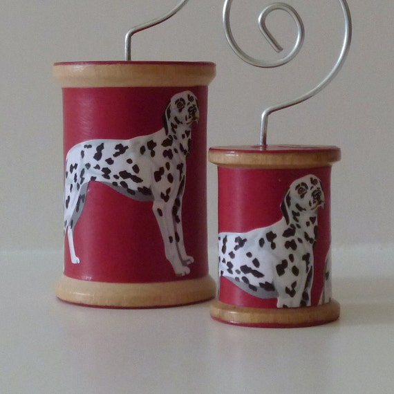 FREE SHIPPING  - Dalmatian on Red - Cool Spools