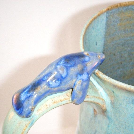 Dolphin Mug in Blue