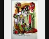 Mixed Media Abstract Painting Original Art
