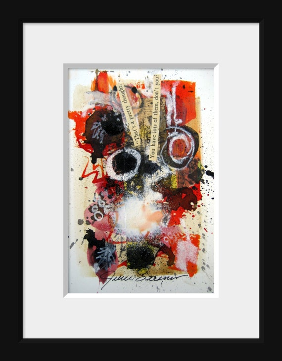 Mixed Media Abstract Painting Original Art
