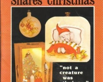 Jean Shares Christmas,  Painting Instructional Book, Holiday Designs, Victorian Christmas Ornaments, Jean Zawicki, 1978  (630-10)