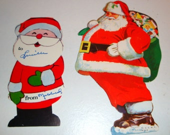 Vintage Santa Claus Christmas Paper Ephemera, Tag, Scrapbook Embellishment, Advertisement, Kitsch  (1004-11)