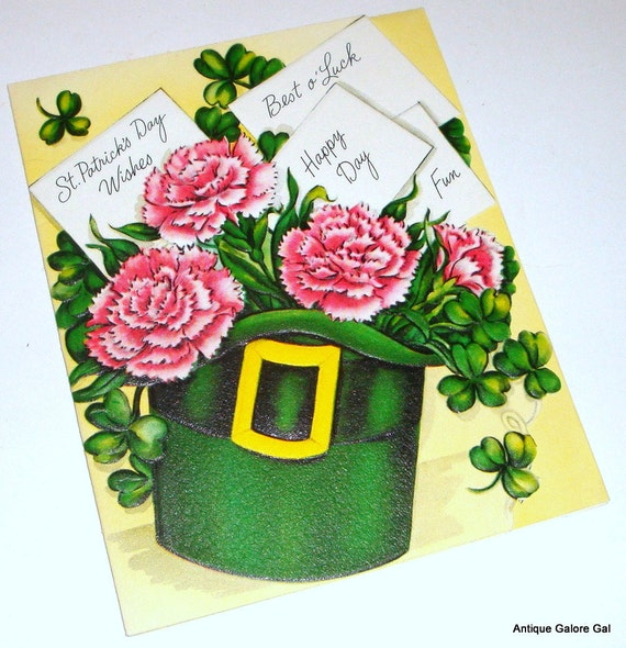 Vintage St. Patrick's Day Greeting Card, Best o'Luck  (143-07)