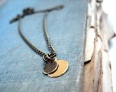 Chic Minimalist - Tiny Brass Drop Necklace