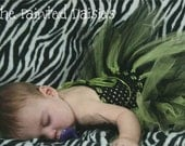 Black and Green Witch Infant Tutu