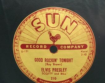 Elvis Presley Sun Records Classic 78 rpm Record Label Tee Shirt