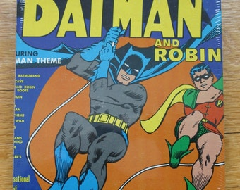 Batman Genuine 33rpm Upcycled LP Record Cover Drawing Pad Featuring beautiful Vintage Graphics
