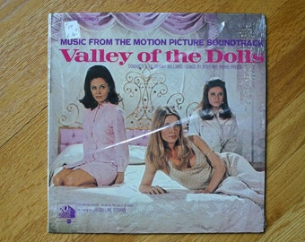 Valley of the Dolls Movie Soundtrack  LP Record Classic 60's Jem  With Beautiful Sharon Tate, Barbara Parkins and Patty Duke