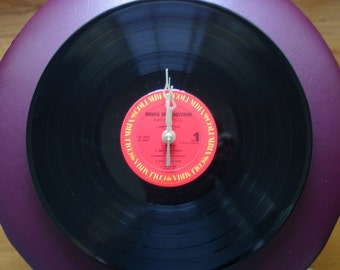 """Bruce Springsteen """"Born In The USA"""" On Columbia Records Genuine 33rpm  LP Record Clock"""