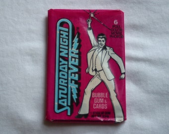 Saturday Night Fever Vintage 1970's Wax Pack Movie Trading Cards Unopened