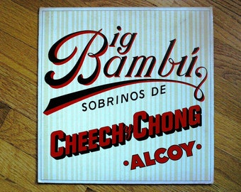 "Cheech and Chong ""Big Bambu"" Vintage 33 rpm Record Album Featuring Sister Mary Elephant With Gigantic  Rolling Paper"