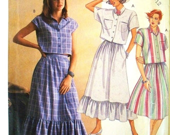 easy mccalls pattern 3173 - misses shirt and skirt  - (1987) - UNCUT