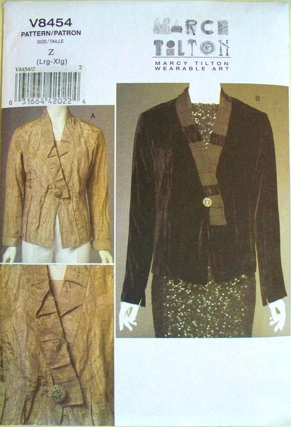 vogue wearable art pattern 8454 - marci tilton's top - (2007) - UNCUT