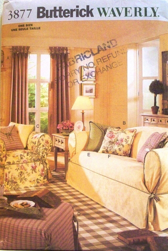 butterick pattern 3877 - drapes, slipcovers and pillows - (2003) - UNCUT