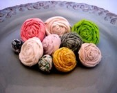 Set of 9 Rosette Push Pins - RESERVED FOR CORTNEY