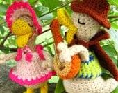 Amigurumi Duckie Duo Singers Crochet pattern PDF kids handmade stuffed toy plush DIY bird softie tutorial