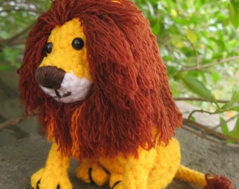 Amigurumi Lion Crochet pattern PDF children's stuffed animal plush toy softie DIY tutorial