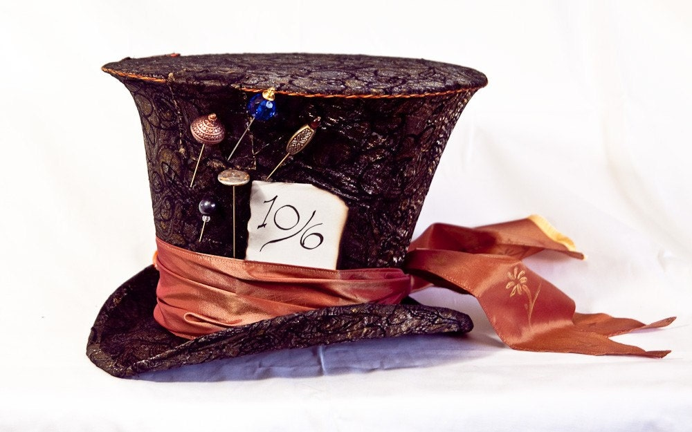 Tim Burton styled Mad Hatter's Hat from Alice in