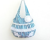 Stripes and Flowers Bag