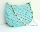 Mermaid's Tail Bag - Folded Linen with Metal Strap