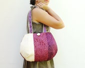 Day and Night - Reversible Bag - Patchwork - Purple and Cream