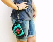 Lost Memories - Pouch - Leather,  Vintage Embroidery and Fabric