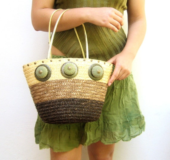 The Sea Urchin Bag - Straw woven Beach Bag With Sea Urchins