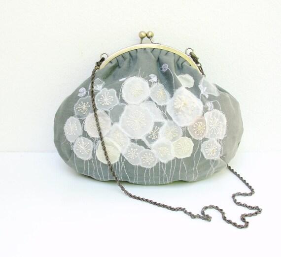 Anemone Frame Bag - Embroidered Linen