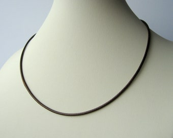 Cord necklace upgrade for pendants in black or brown