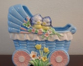 Vintage Baby Carriage Planter Made in japan